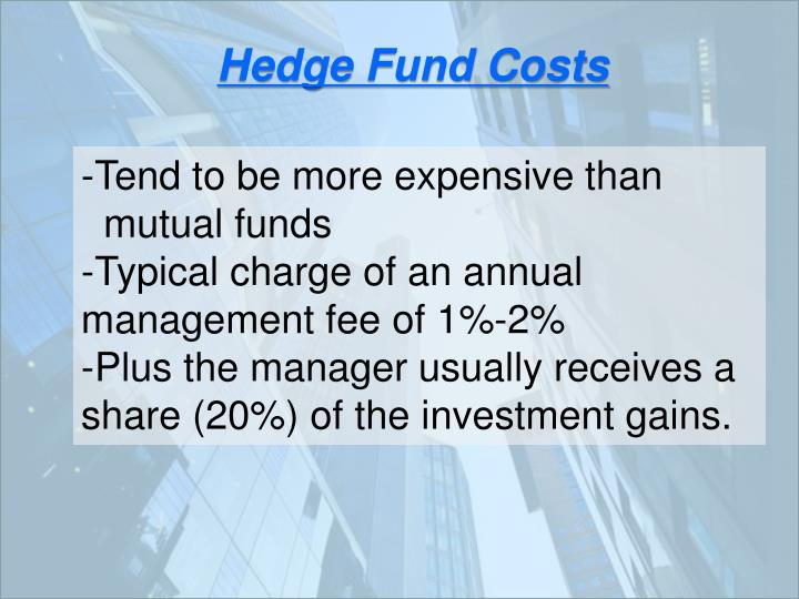 Hedge Fund Costs