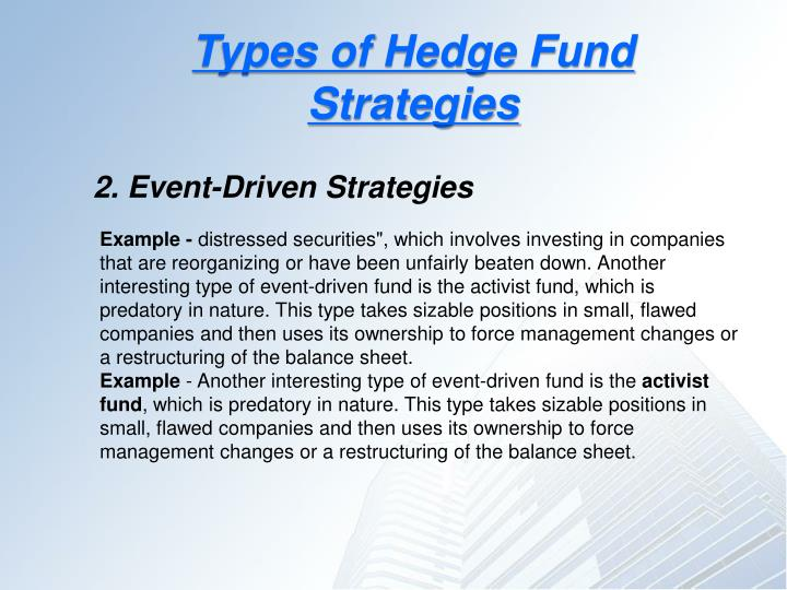 Types of Hedge Fund