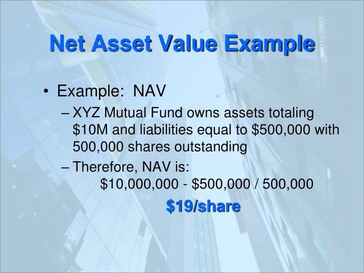 Net Asset Value Example