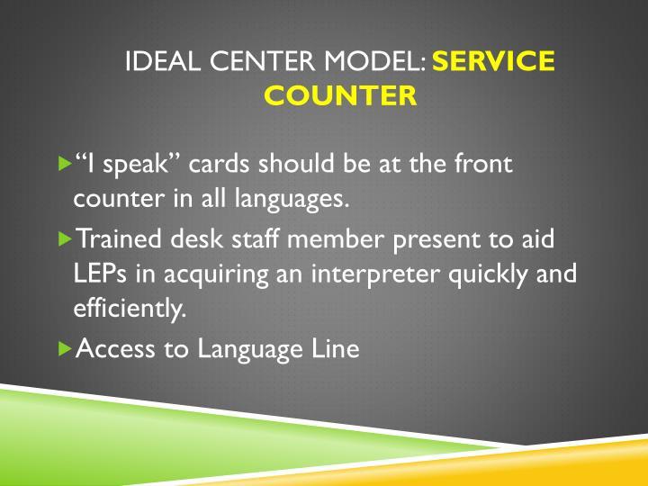 Ideal Center Model:
