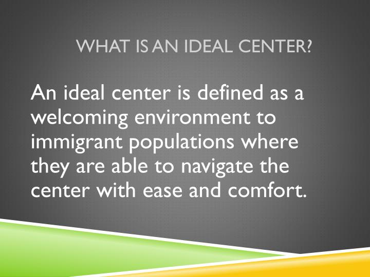 What is an ideal center?