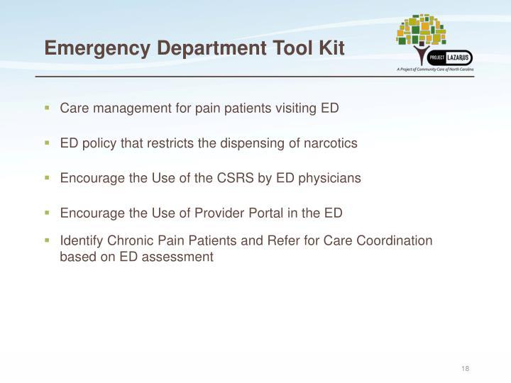 Emergency Department Tool Kit