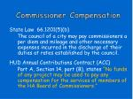 commissioner compensation
