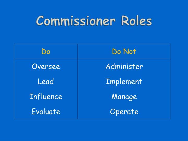 Commissioner Roles