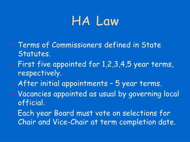HA Law
