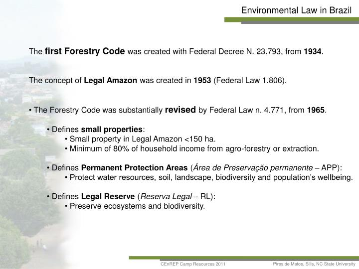 Environmental Law in Brazil