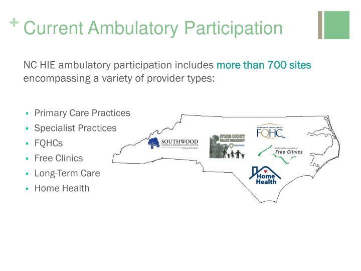 Current Ambulatory Participation