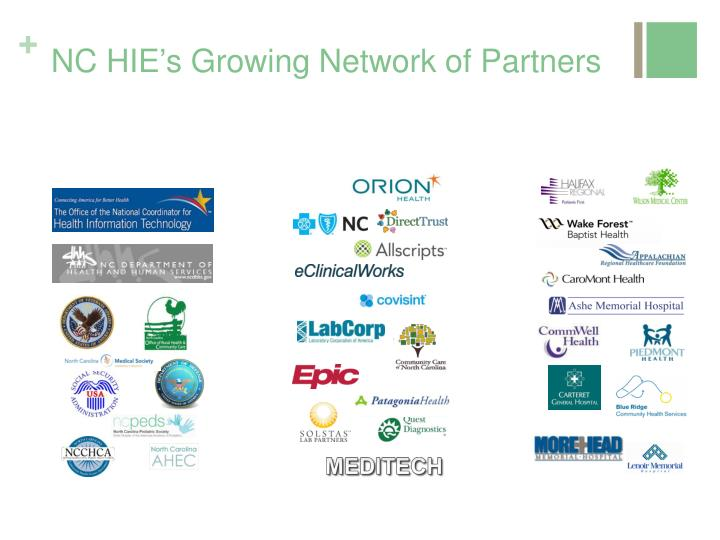 NC HIE's Growing Network of Partners