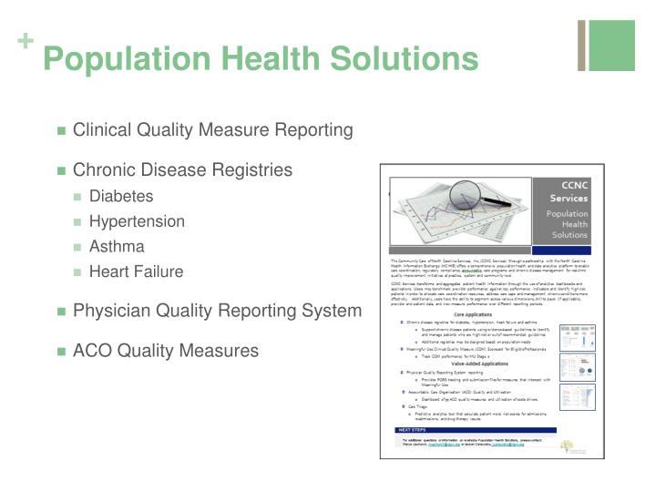 Population Health Solutions