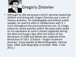 gregory zinoviev