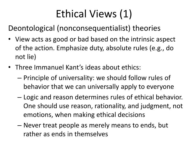 Ethical Views (1)