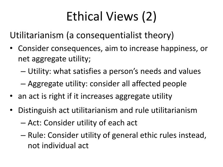 Ethical Views (2)