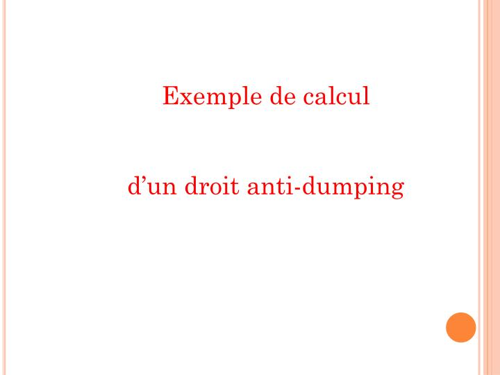 Exemple de calcul