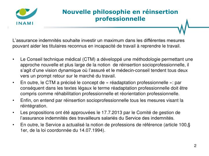 Nouvelle philosophie en r insertion professionnelle