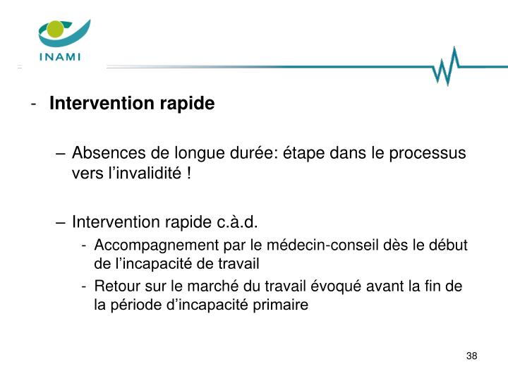 Intervention rapide