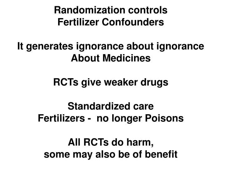 Randomization controls