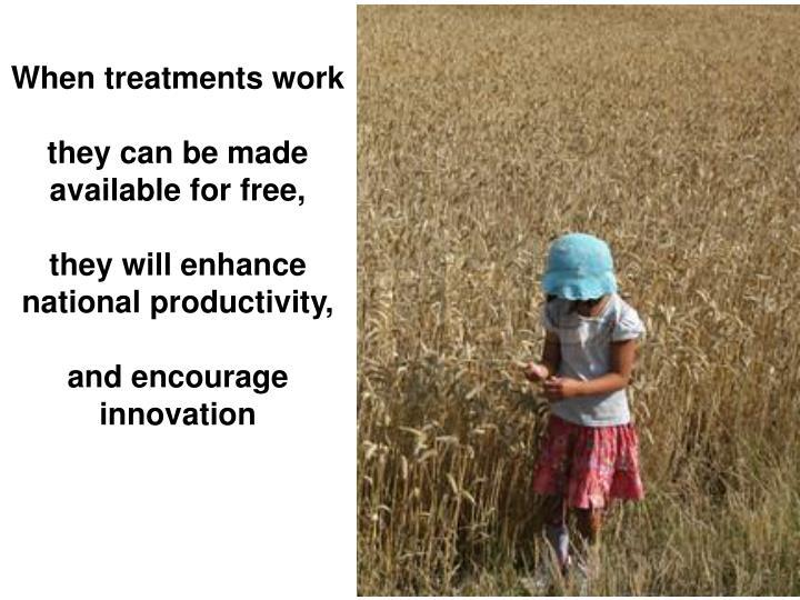 When treatments work