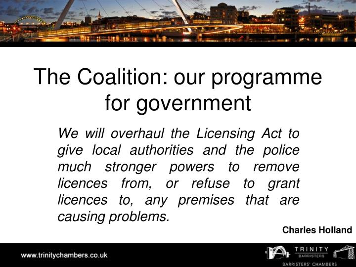 The coalition our programme for government