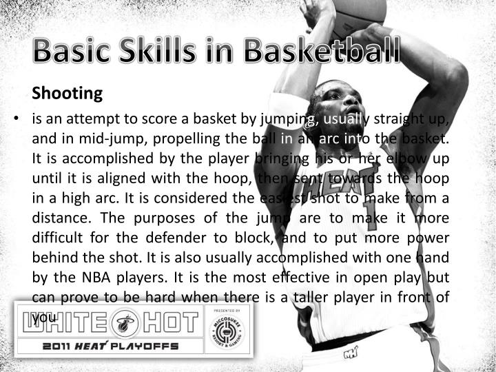 Basic Skills in Basketball