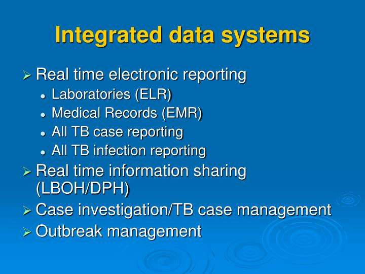 Integrated data systems