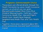 programs commonwealth choice1
