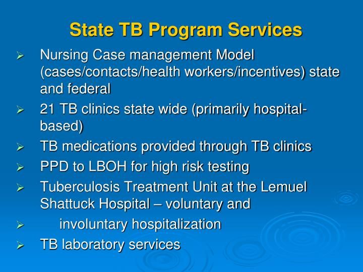 State TB Program Services