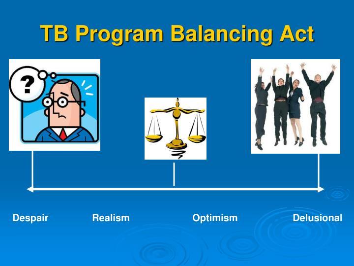 TB Program Balancing Act