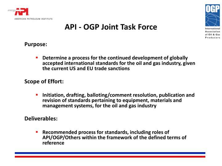 API - OGP Joint Task Force