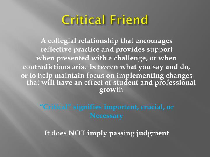 Critical Friend
