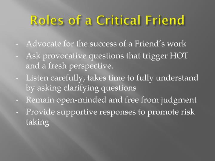 Roles of a Critical Friend