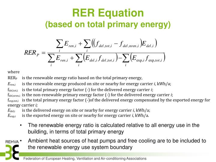 RER Equation