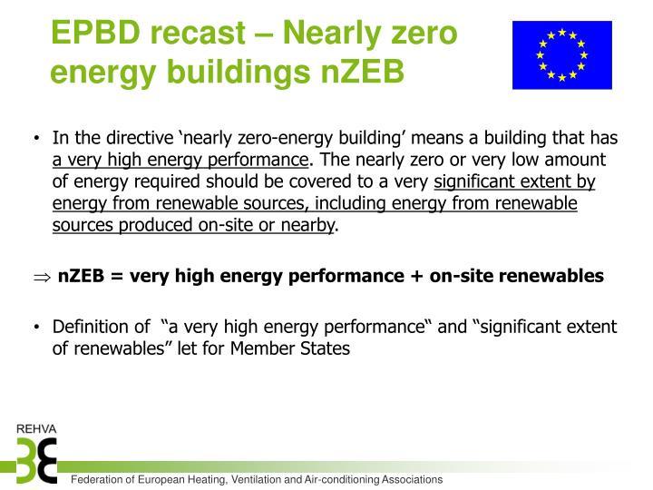 EPBD recast – Nearly zero