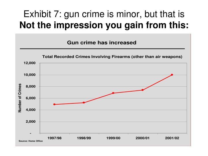 Exhibit 7: gun crime is minor, but that is