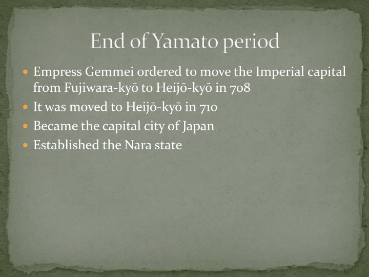 End of Yamato period