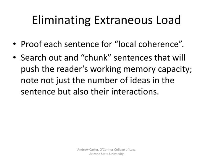 Eliminating Extraneous Load