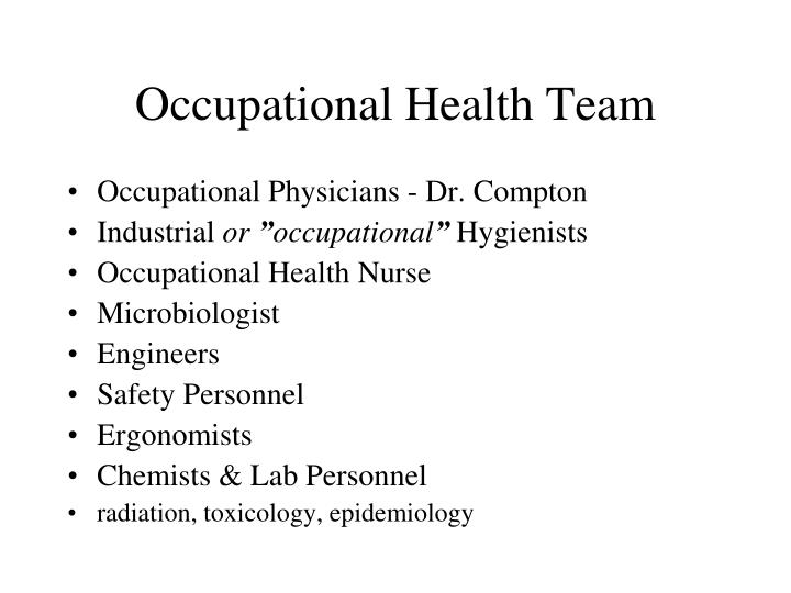 Occupational Health Team