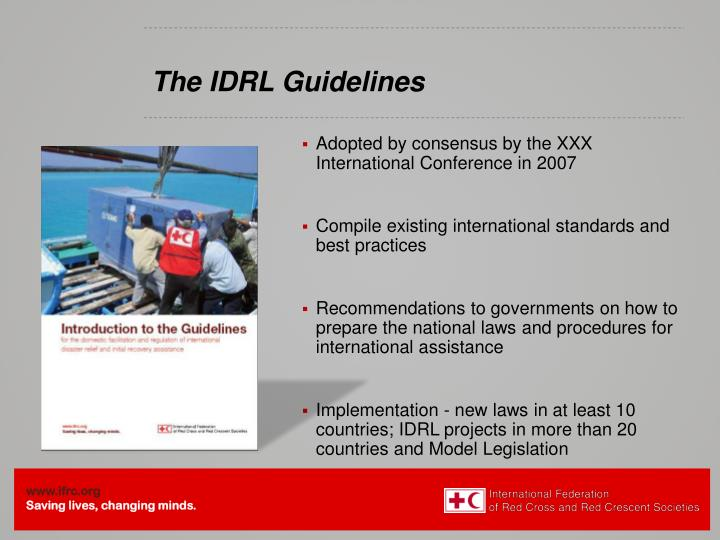 The IDRL Guidelines
