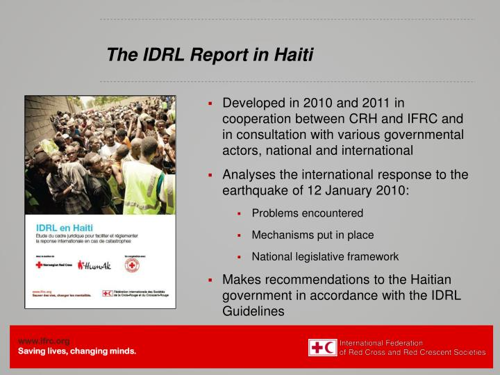 The IDRL Report
