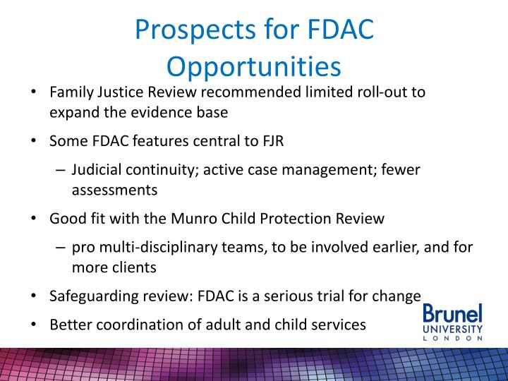 Prospects for FDAC