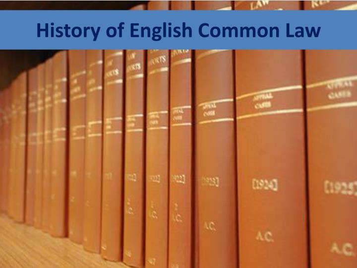 History of english common law