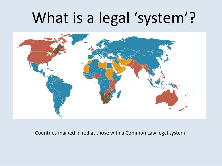 What is a legal 'system'?