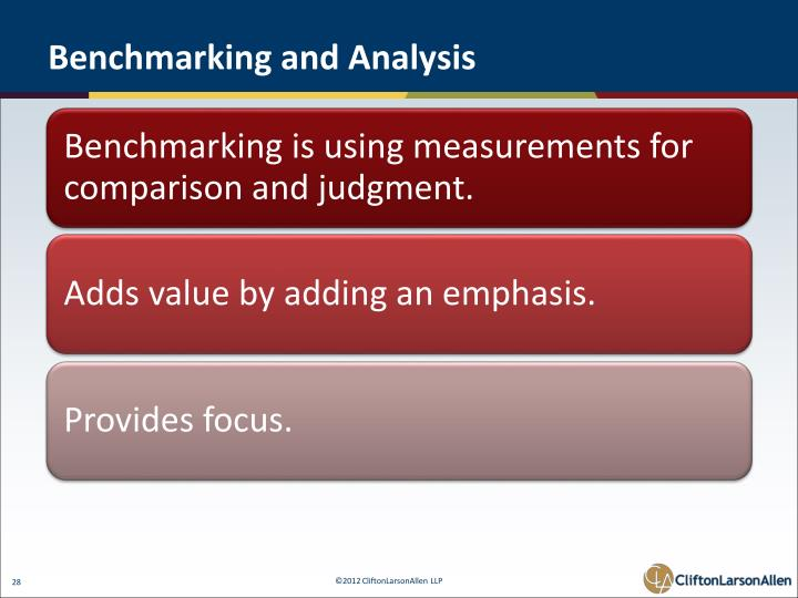 Benchmarking and Analysis