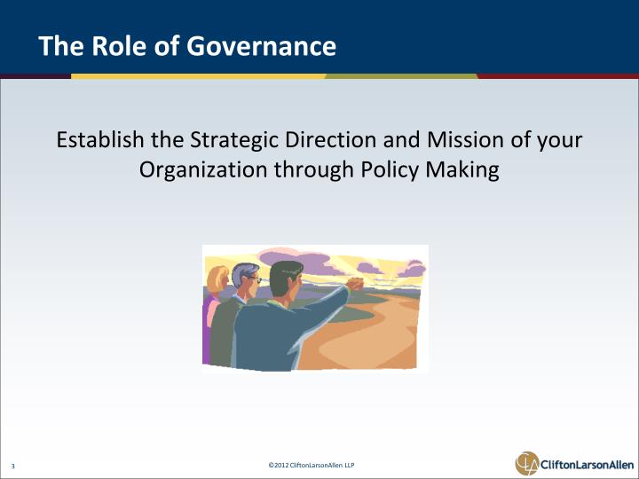 The role of governance