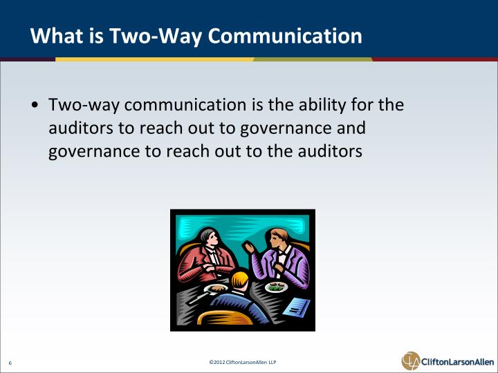 What is Two-Way Communication