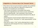integration vs outsourcing in the transport sector5