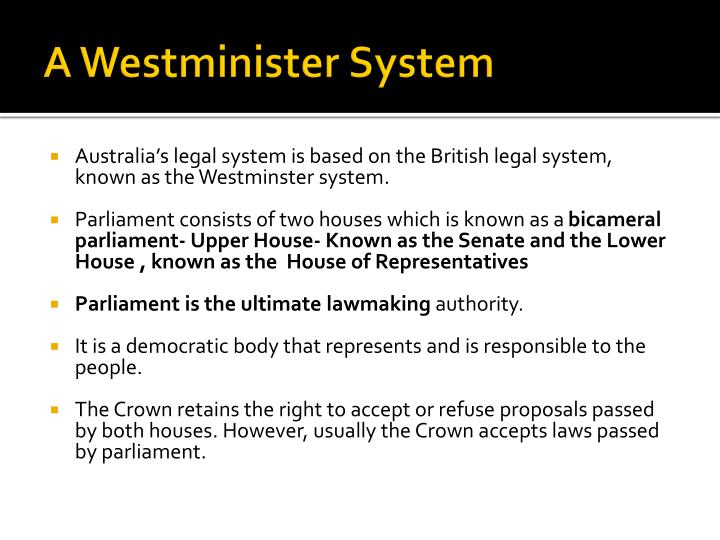 A westminister system