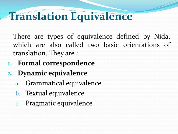 Translation Equivalence