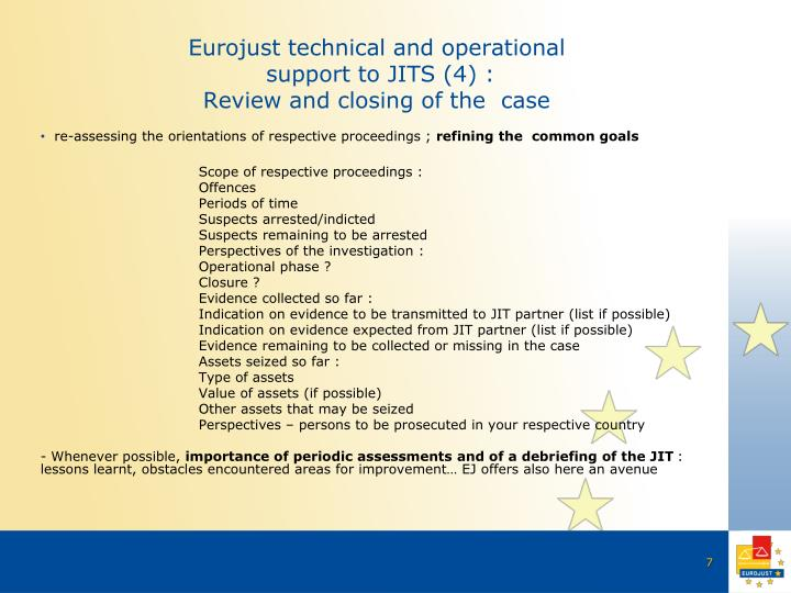 Eurojust technical and operational