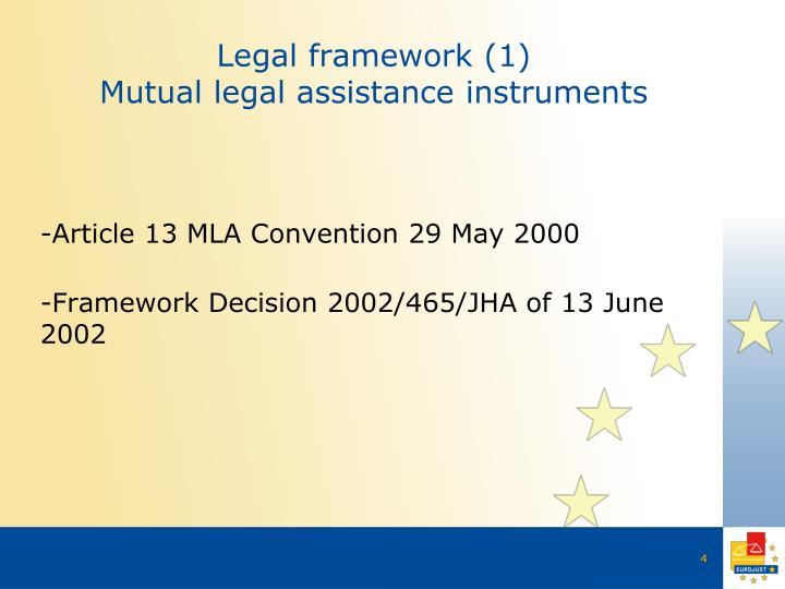 Legal framework (1)