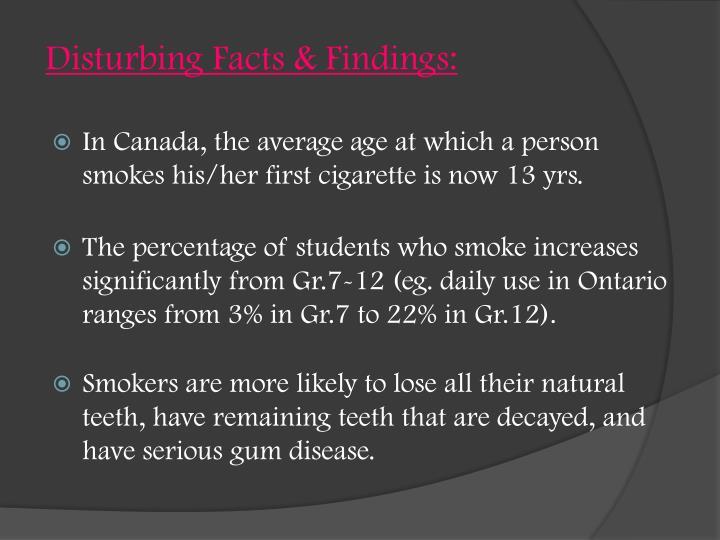 Disturbing Facts & Findings: